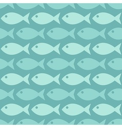 Fishes in the ocean vector image