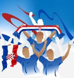 croatia crowd vector image