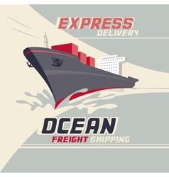 Ocean freight shipping vector image