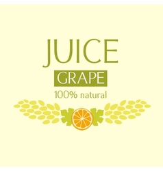 Editable label template or logo for fruit juice vector