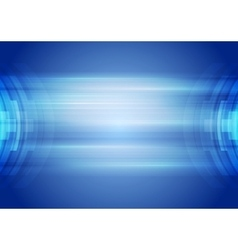 Abstract blue hi-tech corporate background vector