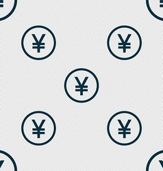 Japanese yuan icon sign seamless abstract vector
