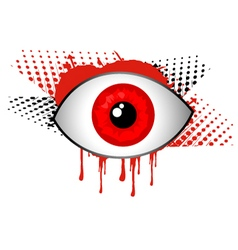Horror eye vector