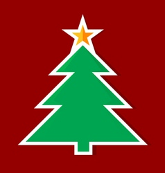 origami christmas tree vector image