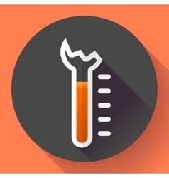 Broken thermometer icon temperature symbol vector