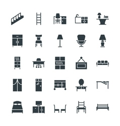 Furniture cool icons 4 vector