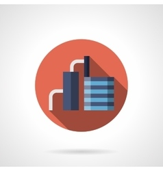Cement factory red round icon vector