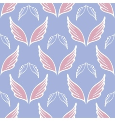 Angel wings seamless sketch pattern vector