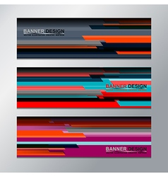 banner backgrounds design vector image vector image