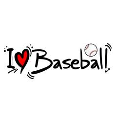 baseball love vector image vector image