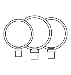 Camera lenses icon outline style vector