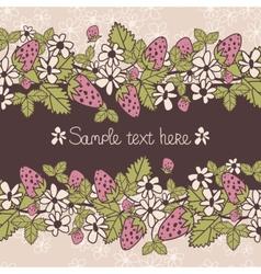 cardstrawberries vector image vector image
