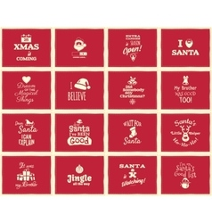 Christmas funny signs quotes backgrounds designs vector image vector image