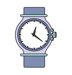Color graphic of purple female bracelet clock vector