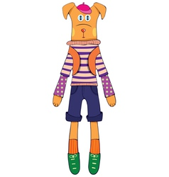 doll - dog vector image