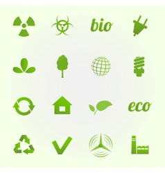Environment icons set vector