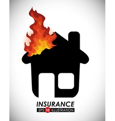 fire insurance vector image