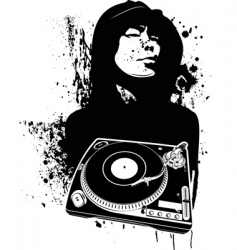 graffiti DJ background vector image