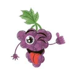 Grapes expressions silly face vector