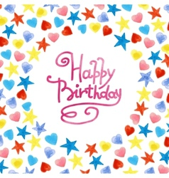 Happy Birthday frame vector image vector image