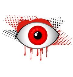 horror eye vector image vector image