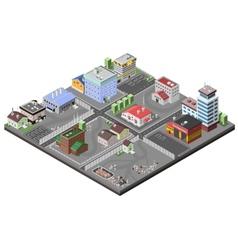 Industrial area concept vector