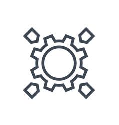 Integration linear icon vector