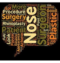 Myths About Rhinoplasty Revisited text background vector image vector image