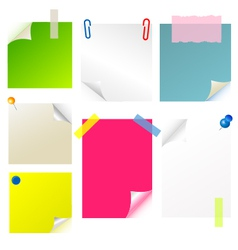 note papier sticker postit vector image vector image