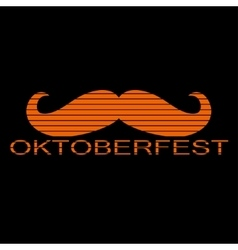 Octoberfest symbol with a red mustache vector