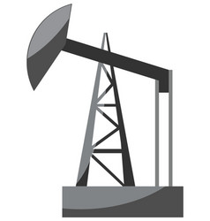 Oil pump icon vector