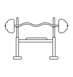 outline brench press exercise gym design vector image vector image