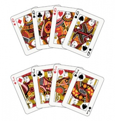 poker jack and queen vector image vector image
