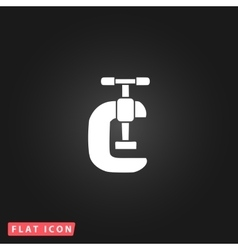 Press flat icon vector