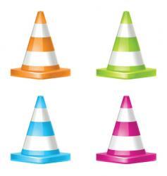 road cones vector image vector image