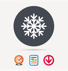 snowflake icon air conditioning sign vector image