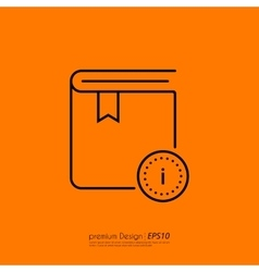 Stock Linear icon information vector image vector image