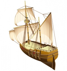 Tall ship vector