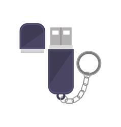 Tech small pen drive device vector