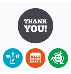 Thank you sign icon Gratitude symbol vector image vector image