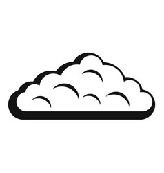 Wet cloud icon simple style vector