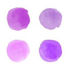Purple watercolor splash vector