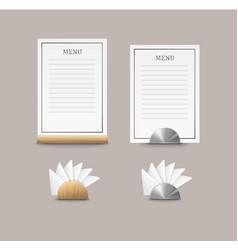 Cafe menu cards vector