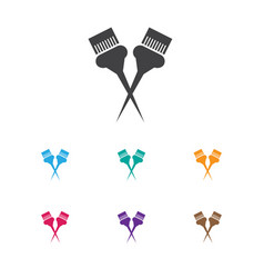 Of hairstylist symbol on vector
