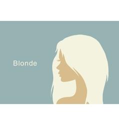 blonde girl in profile vector image