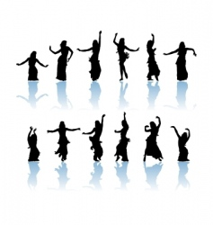 Woman dancers vector