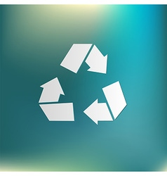 Recycle symbol environmental icon arrow vector