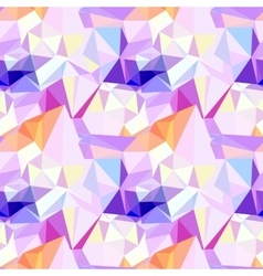 Low poly seamless pattern abstract diamond vector