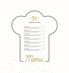 Llinear background for restaurant menu vector image