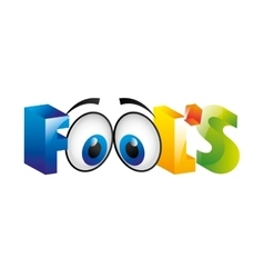 Fools day icon vector